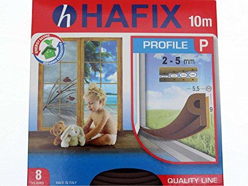 P del profilo guarnizione in gomma 10m marrone etichetta Guarnizione Strip protezione dal freddo
