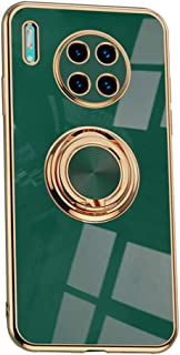 Hicaseer Case for Huawei Mate 30 Pro,Ultra-Thin Ring Shockproof Flexible TPU Phone Case with Magnetic Car Mount Resist Dur...