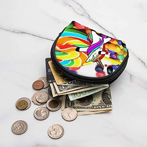 Coloridos caramelos Lollipop Travel Shell Cosméticos Bolsas de almacenamiento portátiles para mujeres y niñas pequeñas monedero monedero monedero monedero bolsa