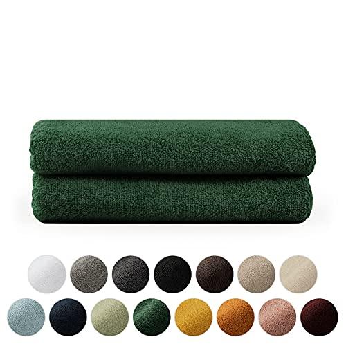 Blumtal Set de 2 Toallas de Manos (50x100cm) - Toallas Suaves y Absorebentes, 100% algodón, Certificado Oeko-Tex 100, Verde Oscuro