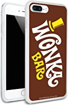 Willy Wonka and The Chocolate Factory Wonka Bar Logo Protective Slim Fit Hybrid Rubber Bumper Case Fits Apple iPhone 8, 8 Plus, X