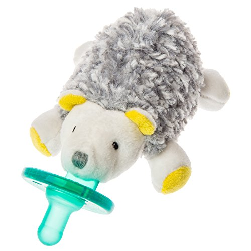 Mary Meyer WubbaNub Soft Toy and Infant Pacifier, Sunshine Hedgehog