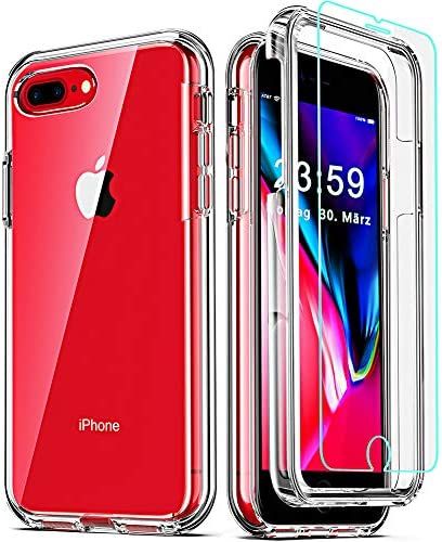 COOLQO Compatible for iPhone 8 Plus iPhone 7 Plus iPhone 6S 6 Plus Case with 2 x Tempered Glass product image