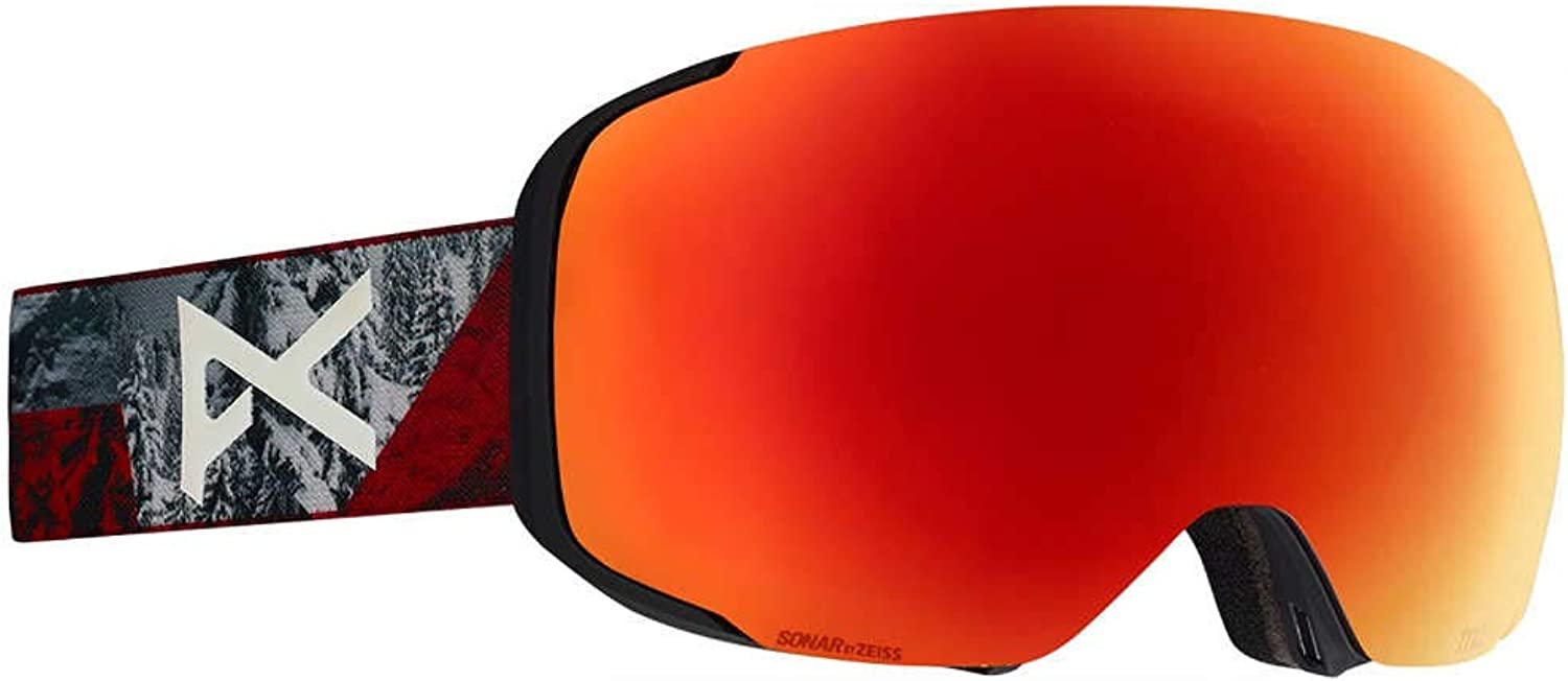 Anon RedplanetSonar Red 2019 M2  with MFI Facemask Snowboarding Goggles