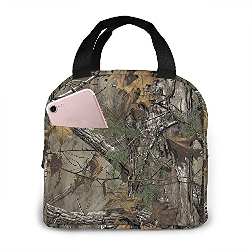 Lunch Bag Tote Bag Realtree Camouflage Camo Lunch Box Insulated Bag Tote Bag Reusable Waterproof For Men/Women Work Travel