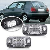 Luces de matrícula de coche 2pc LED Licenciamiento Número de placa Luz compatible con VW Golf Golf MK3 Polo III Estate Finca Classic Polo Variant Compatible con Asiento COIDOBA 6K CORDOBA VARIO Durabl