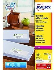 Avery LR7160-100 - Etiquetas para direcciones (63,5 x 38,1 mm, 21 etiquetas por hoja, 100 hojas), color blanco