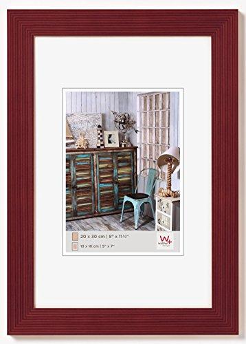 Walther Design Grado Cornice, Legno, Rosso, 40 x 50 cm