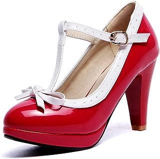 BalaMasa Womens APL12272 Pu Platform Heels