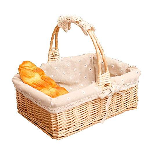 LHQ-HQ Cesta de picnic Cesta de picnic Cesta de almacenamiento cesta de frutas cesta de la flor cesta del almacenaje de la rota del jardín cesta de almacenamiento de vacaciones al aire libre Partes de