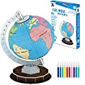 47-Pieces Beaure 3D Globe Coloring Puzzles