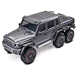 Traxxas 88096-4-SLVR Waterproofed All Terrain Mercedes Benz G 63 1/10 Scale TRX-6 Scale and Trail Remote Crawler, Silver