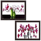 Wens \Flower and Pot Décor\ Painting (MDF, 28 cm x 35.5 cm, Multicolour, WSPC-7012)
