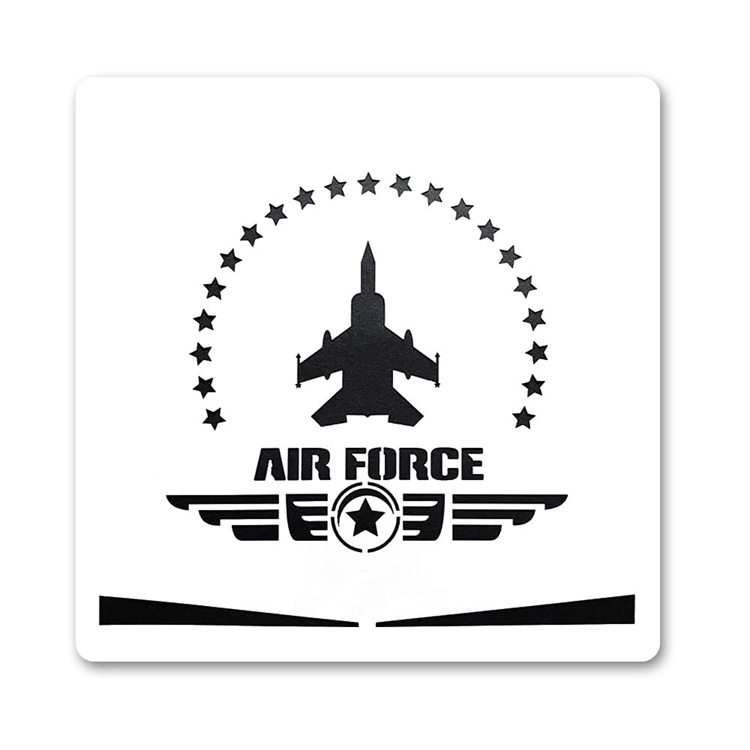 Large U.S Air Force Painting Stencil for Painting on Wood Fabric Walls Airbrush Reusable Mylar Template 12 x 12 inch (USAF Military Logo)