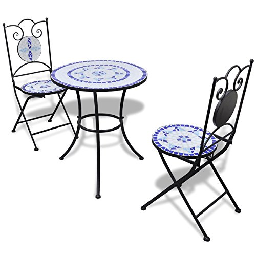 LD Mosaic Garden Table Mosaic Bistro Chair Garden Furniture Set