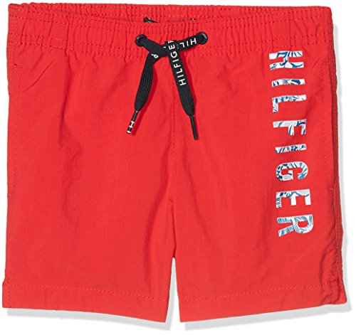 Tommy Hilfiger Jungen MEDIUM DRAWSTRING Badeshorts,, per pack Rot (Flame Scarlet 682), 128 (Herstellergröße: 8-10)