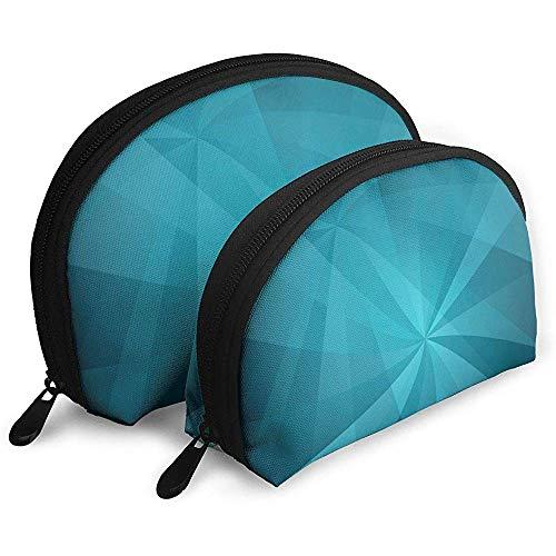 Bildende Kunst Bunte Geometrie tragbare Taschen Make-up Tasche Kulturbeutel, tragbare Multifunktions Reisetaschen kleine Make-up Clutch Pouch mit Reißverschluss