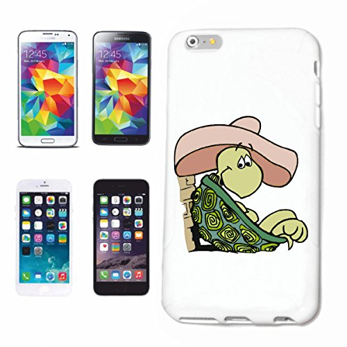 Bandenmarkt telefoonhoes compatibel met Samsung Galaxy S5 Mini schildpad in Sombrero Cartoon Plezier Fun Cult Film Cartoon Leuk Fun Cult Film Ei Hardcase beschermhoes