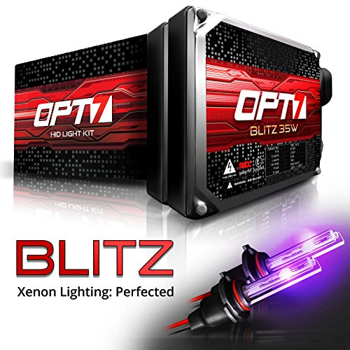 OPT7 Blitz 35w 9006 HID Kit - 3.5X Brighter - 4X Longer Life - All Bulb Colors and Sizes - 2 Yr Warranty [Royal Purple Xenon Light]