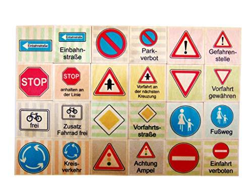 Hess Spielzeug 14950 - Memo aus Holz, Verkehrszeichen