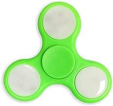 GREEN LED LIGHT HAND FIDGET SPINNER TOY EDC TRI SPINNER FIDGET TOY HAND SPINNER