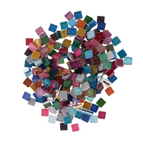 chiwanji Glasmosaikfliesen 100g / 200g Quadratisches Mosaik Für Bastelbedarf Aus Glas - Quadrat, 200 g