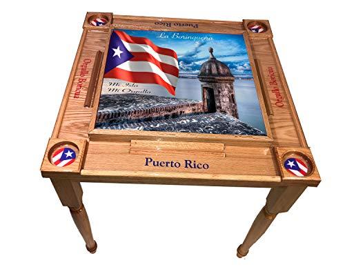 Why Choose latinos r us MVP Domino Table Puerto Rico Morro (Red Mahogany)