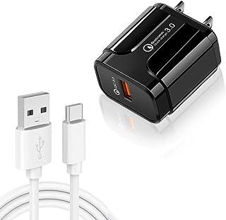 شواحن حائط الهاتف المحمول LZ-023 18W QC3.0 USB Portable Travel Charger + 3A USB to Type-C Data Cable, US Plug