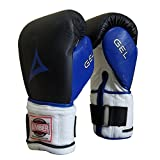 Amber Fight Gear Gel Hook and Loop Weighted Gloves Bag Gloves Heavy Bag Mitts UFC MMA Muay Thai Kickboxing Bag Gloves Regular