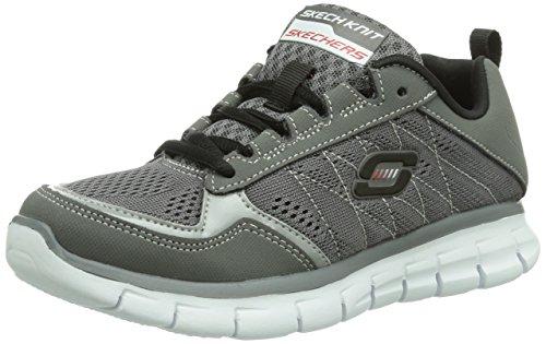 Skechers SynergyPower Switch, Sneaker Bambino, Grigio (Grau (CCBK)), 32 (13 uk)