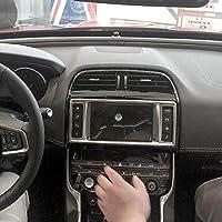 ABS クローム センターコンソール ダッシュボード ナビゲーション スクリーン フレーム カバートリム 1個 Jaguar XE F-pace 2015-2017用