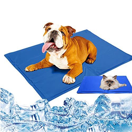 BLSJ Almohadilla Enfriamiento Gel para Mascotas Almohadilla Autoenfriable Cama Dormir Verano Estera Enfriamiento Mascotas Ideal para Perros Los Gatos Se Mantienen Frescos Este Verano,65 * 50