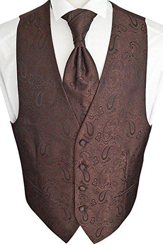 Sören Svensson Hochzeitsweste mit Plastron, Einstecktuch, Krawatte, Tailliert Nr. 23.7 (48)