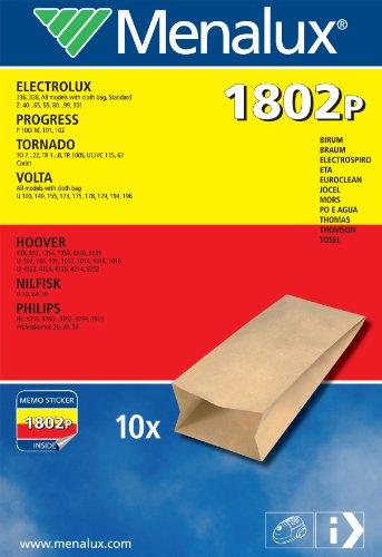 Menalux 1802 P 10 sacs d'aspirateur pour Progress, Nilfisk et Thomas (Import Allemagne)