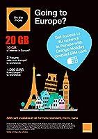 Orange Holiday ヨーロッパ - プリペイドSIMカード ー 4G通信10GB - 120分 - SMS1000通