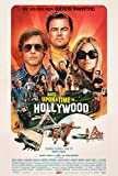 Once Upon a Time in Hollywood Poster (24 x 36') - Movie Poster - (Leonardo Dicaprio, Brad Pit, Quentin Tarantino, Margot Robbie)
