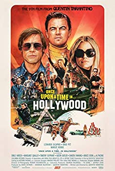 Once Upon a Time in Hollywood Poster  24 x 36   - Movie Poster -  Leonardo Dicaprio Brad Pit Quentin Tarantino Margot Robbie