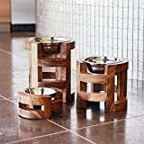 Unleashed Life Elevated Feeder - Raised Dog & Cat Food Bowl