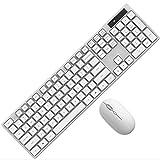 YPJKHM Notebook Keyboard Mouse Set, Teclado de computadora portátil de Escritorio y Mouse Juego de Mouse de Teclado Universal Ligero y Delgado para Oficina de Juegos (Rosa)-White