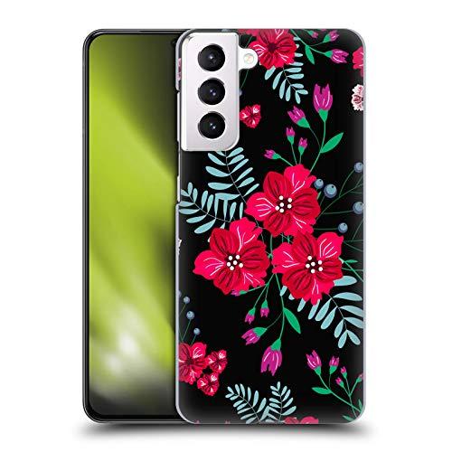 Head Case Designs Licenza Ufficiale Haroulita I Trio Fiori Scuri Fantastici Cover Dura per Parte Posteriore Compatibile con Samsung Galaxy S21+ 5G