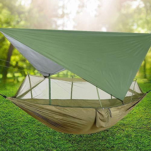 TNSYGSB Hängematte Luftzelt Camping 2 Person Hängematte mit Moskitonetz und Sonnenschutz tragbare Fallschirm-Swing-Hängematten hängesessel Outdoor