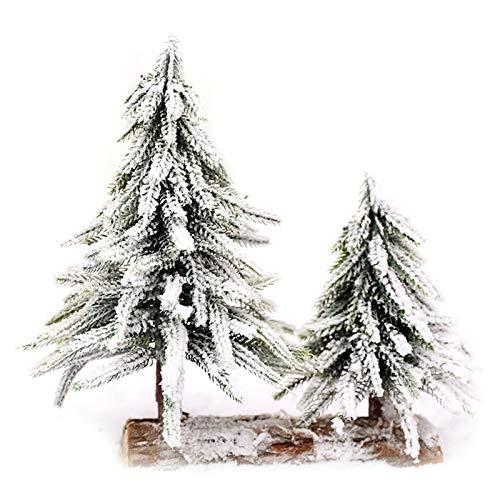 WT-DDJJK - Albero di Natale in tela affollata con neve, decorazione da tavolo per la casa, alberi artificiali