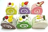 食品 サンプル 詰め合わせ お菓子 おかし ケーキ ドーナツ 果物 多種 セット (ロールケーキシュガーBセット)