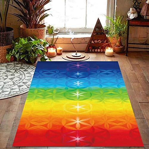 Buty Rainbow 7 Chakra Mandala Bohemia Manta Mat Tapiz Toalla de Playa del Verano Yoga