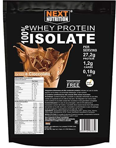 Proteine 100% Isolate WHEY V.B. 104 2000 gr Cacao Immediata Assimilazione | Solo 0,18gr di Grassi e 1,2gr di Carboidrati Recupero Muscolare Prodotte in Italia