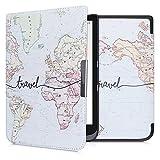 kwmobile Custodia Compatibile con Pocketbook InkPad 3/3 PRO/Color - Cover in Simil Pelle Magnetica Flip Case per eReader Nero/Multicolore