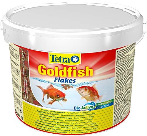 Tetra Goldfish Flakes - Alimento para todos los peces dorados y otros peces de agua fría, 10 L