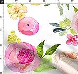 Aquarell Blumen, Großes Blumenmuster, Große Blumen,