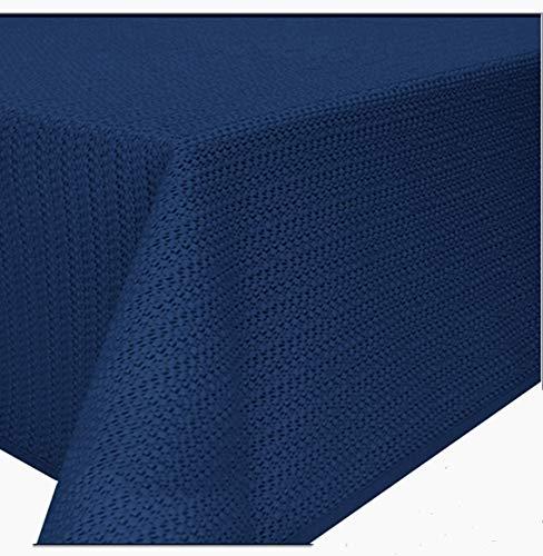 Schwar Textilien Gartentischdecke Tischdecke Weichschaummaterial rutschfest wetterfest 4 Farben (130x220cm eckig, Blau)