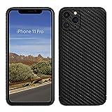 VIVERSIS echte Carbon Hülle für iPhone 11 Pro I Matt schwarz, ultradünn, sehr leicht, robust, kabelloses Laden, hohe Qualität - Hand Made in Germany